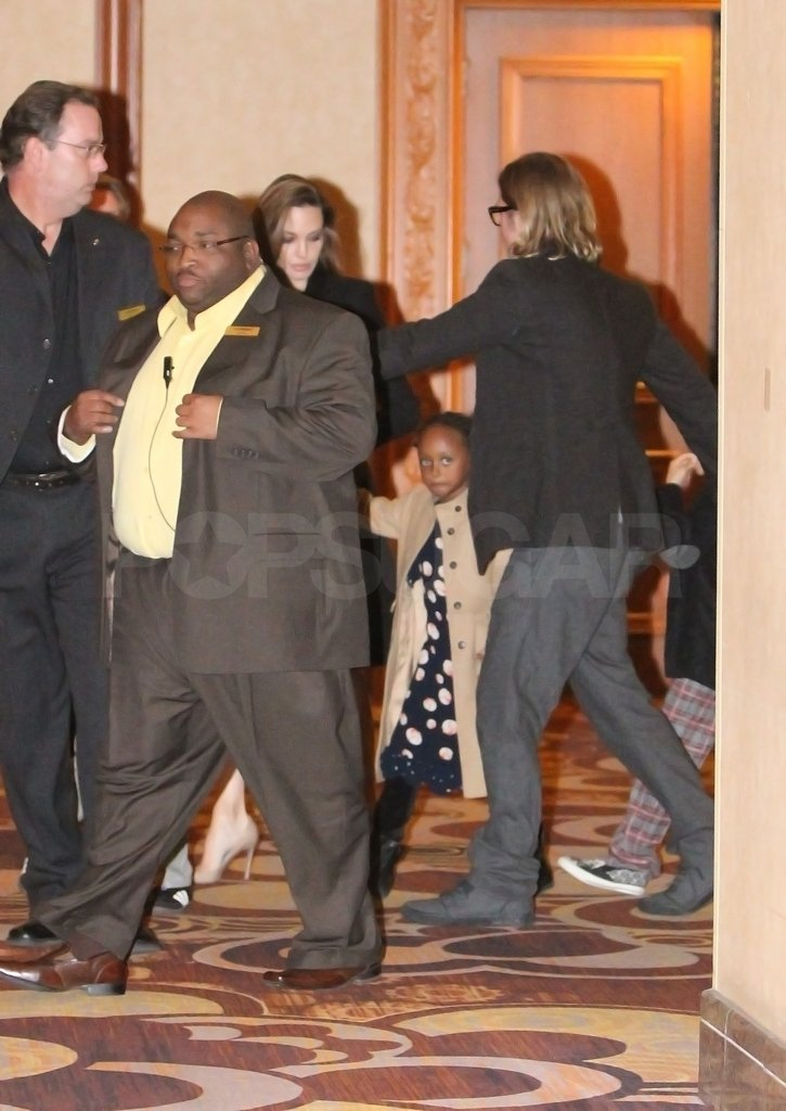 Brad Pitt and Angelina Jolie took their kids to see Immortal Michael Jackson Cirque du Soleil in Las Vegas.