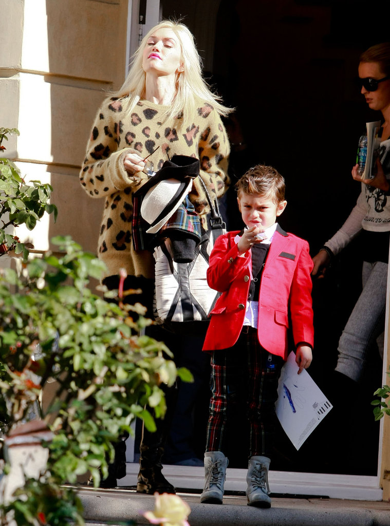 Gwen Stefani and Kingston Rossdale were dressed to impress in LA.