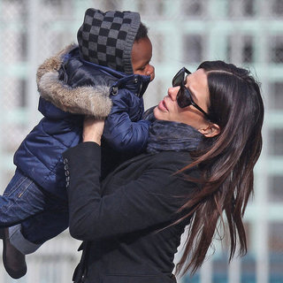 Sandra Bullock With Louis in NYC Pictures