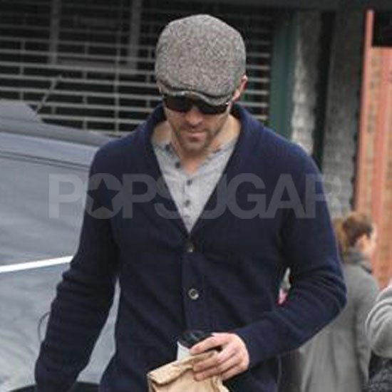 Ryan Reynolds stayed warm in layers and a hat in NYC.