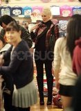 Gwen Stefani checked out the toys at Sanrio.