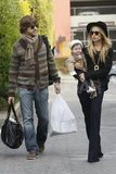 Rachel Zoe and Rodger Berman ran errands in LA with their bundle of joy, Skyler.