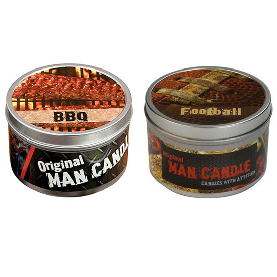 BBQ Scented Man Candle and Football Scented Candle ($12 Each)