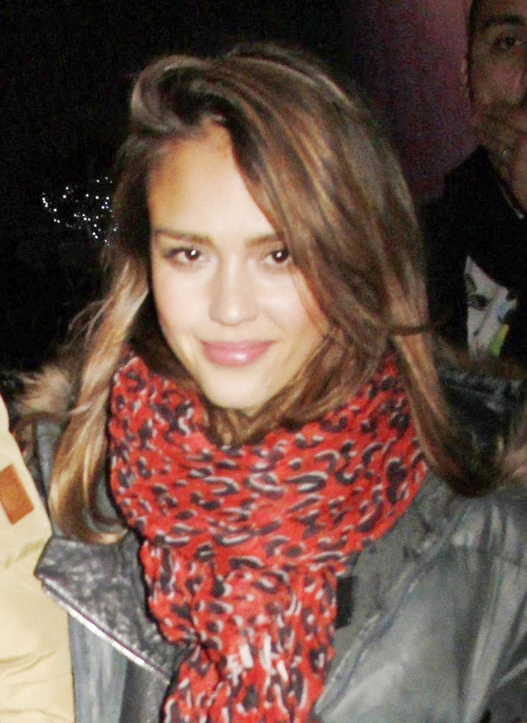 Jessica Alba at Kanye West concert in LA.