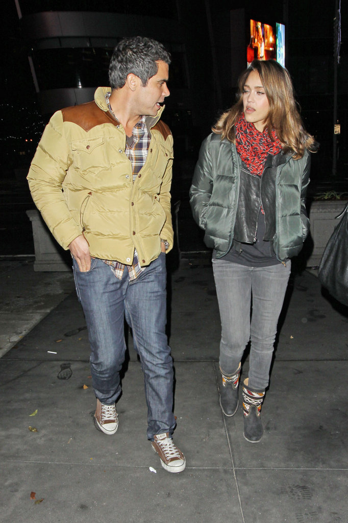 Jessica Alba and Cash Warren leaving the Jay-Z and Kanye West concert in LA.