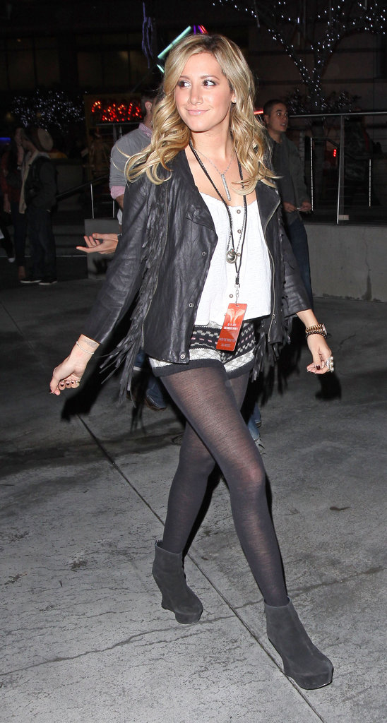 Ashley Tisdale at the Staples Center.