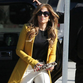 Jennifer Lopez Arriving at American Idol's Hollywood Week
