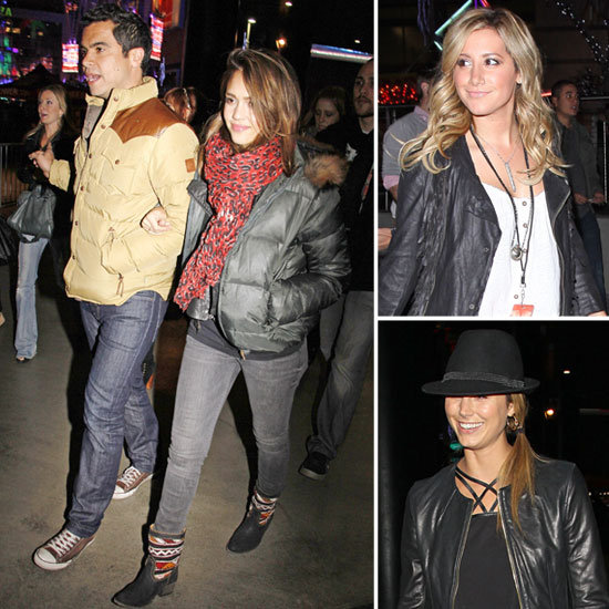 Jessica Alba, Ashley Tisdale, Stacy Keibler, and More Check Out Jay-Z and Kanye's LA Show