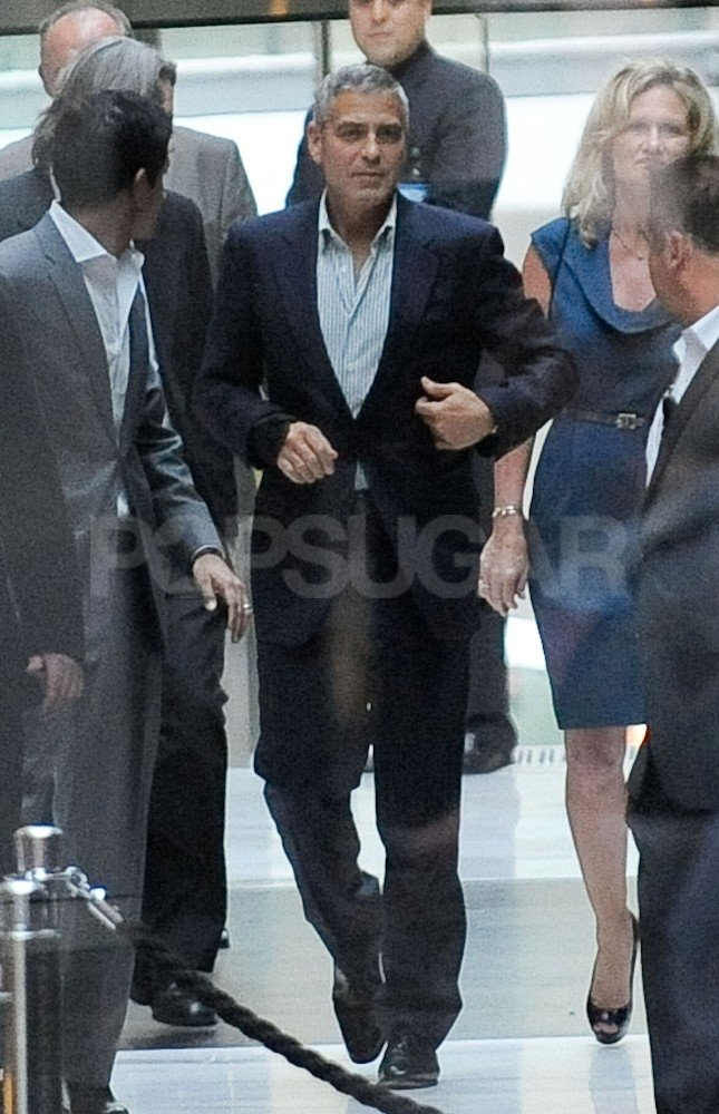 George Clooney wore a chic suit in Sydney.