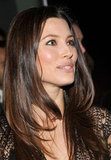 Jessica Biel went for a smokey eye and sleek hair in NYC.