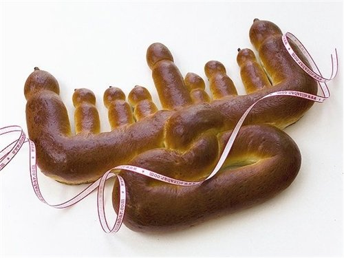 Menorah Challah