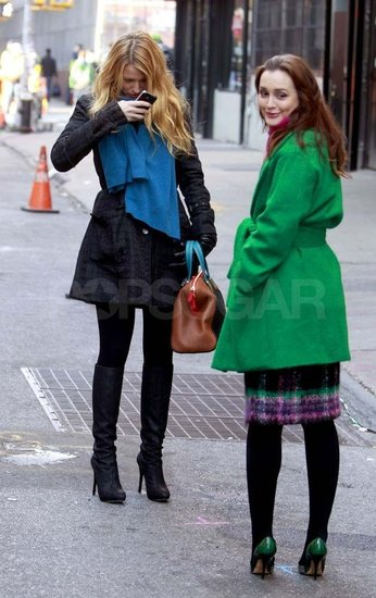 Blake Lively and Leighton Meester Get Snap Happy on the Gossip Girl Set