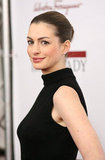 Anne Hathaway was in classic black in the Big Apple.