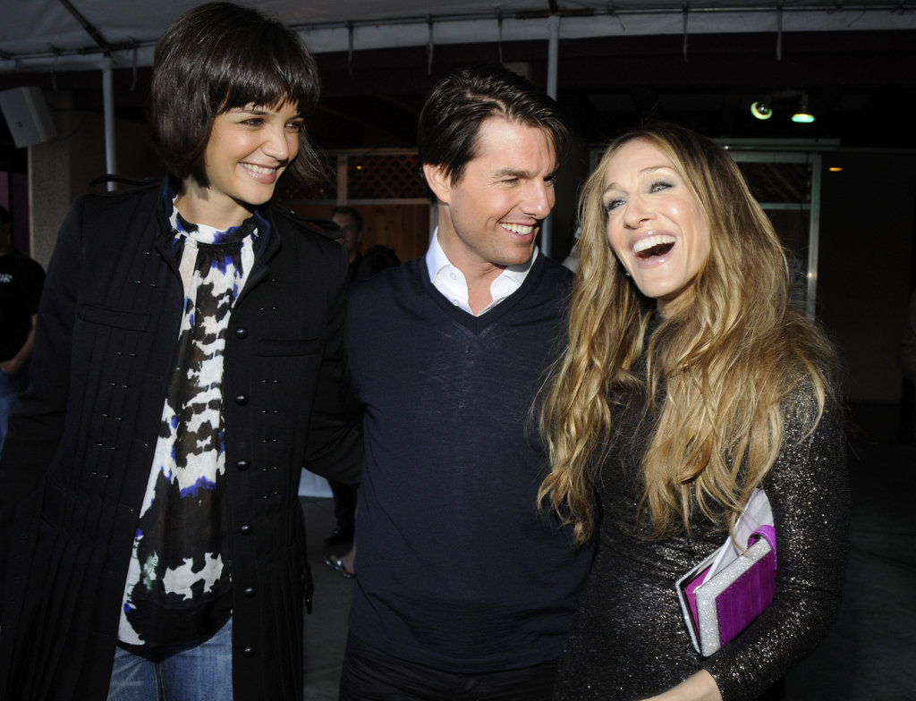 Tom Cruise and Katie Holmes hung backstage with Sarah Jessica Parker at the MTV Movie Awards in June 2008.