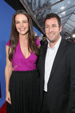 Katie Holmes posed with Jack and Jill costar Adam Sandler at the film's Hollywood premiere in November 2011.