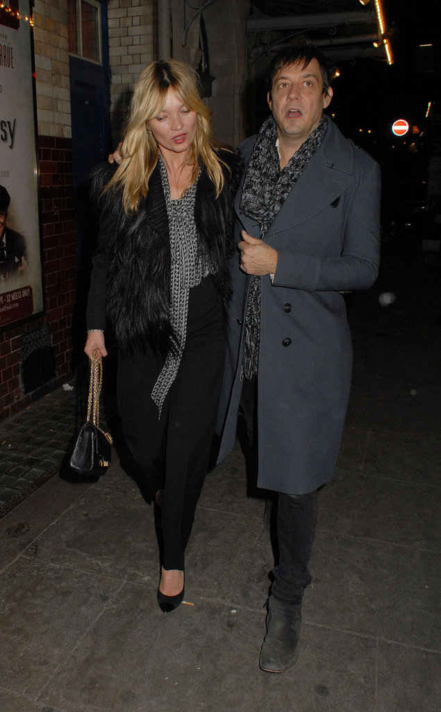 Jamie Hince took Kate Moss to dinner at J Sheekey's.