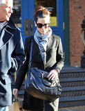 Sandra Bullock left NYC's REI with a new purchase.