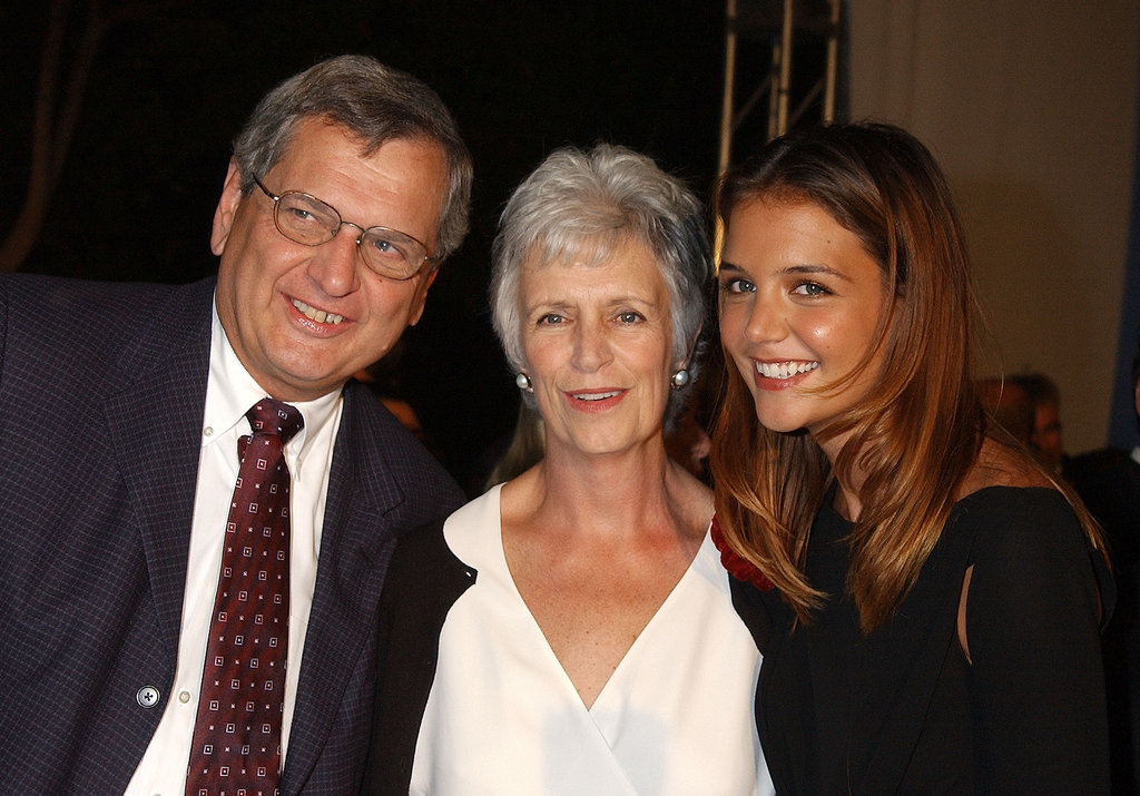 Katie Holmes brought her parents, Marty Holmes and Kathy Holmes, to the premiere of Abandon in October 2002.