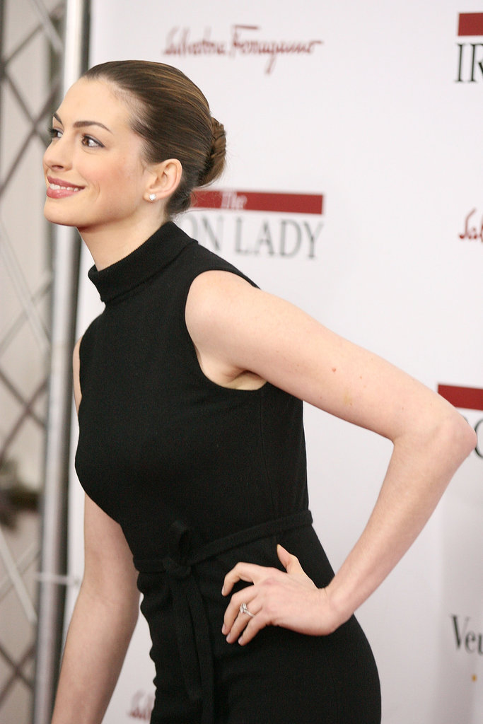 Anne Hathaway leaned in for a close up.