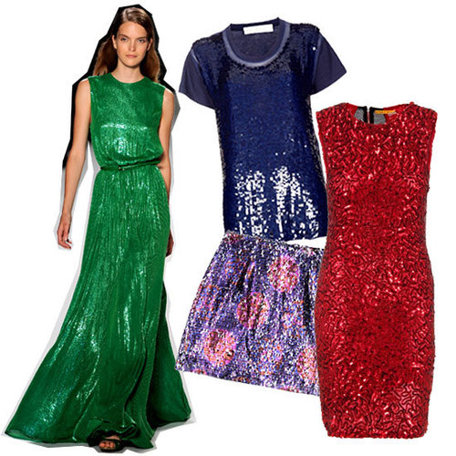 5 Cool Ways to Wear Coloured Sequinned Pieces: Shop Sequins for the Party Season from Topshop, Alexander Wang, Mink Pink, ASOS