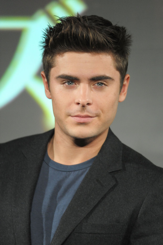 Zac gave his sexiest stare to photographers.
