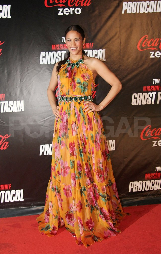 Paula Patton was in Rio de Janeiro for the premiere of Mission: Impossible – Ghost Protocol.