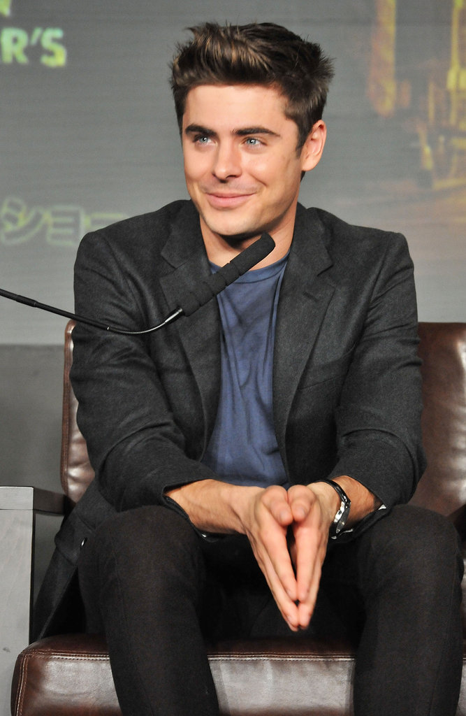 Zac fielded questions about the ensemble film.
