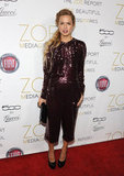 Rachel Zoe picked a festive getup for the Zoe Media Group launch party in LA.