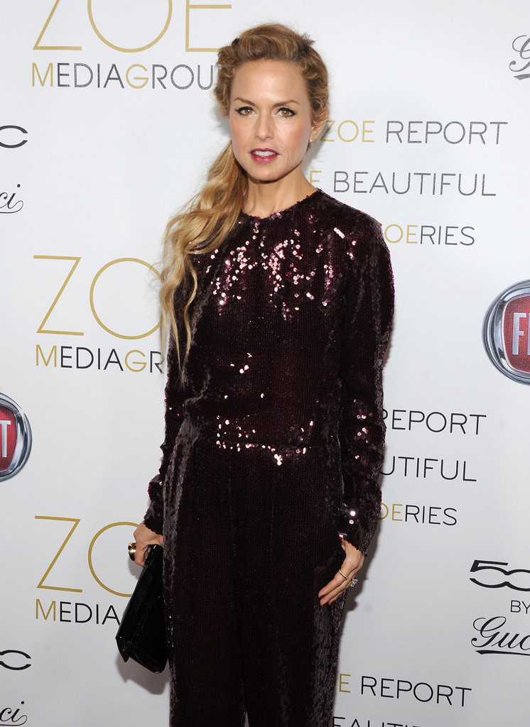 Rachel Zoe shined in a sequin jumpsuit.