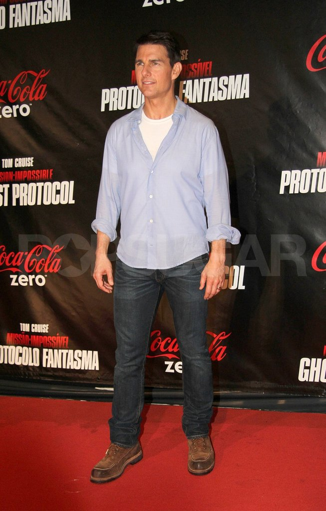 Tom Cruise was in Rio de Janiero for the latest Mission: Impossible – Ghost Protocol premiere.
