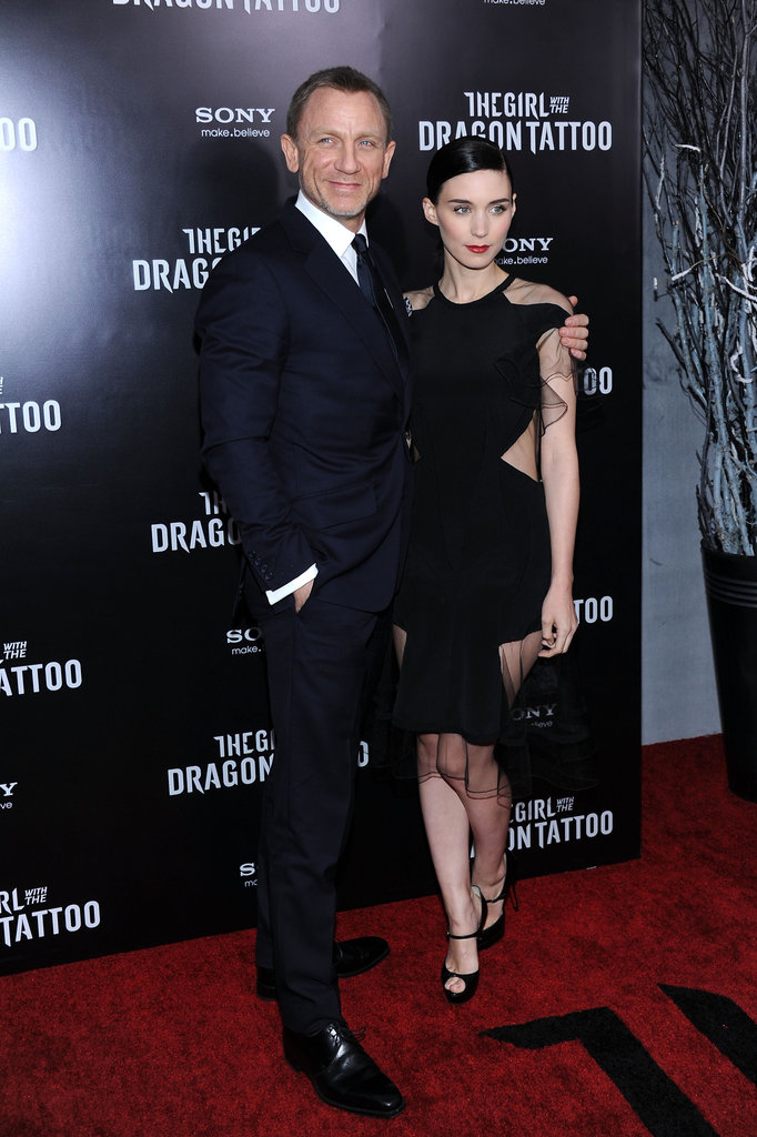 Rooney Mara Rocks Her Latest Dramatic Dress For a NYC Dragon Tattoo Premiere