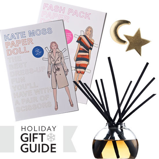 From Kate Moss paper dolls to yummy candles, find out what the FabSugar editors are gifting friends and family this holiday season.