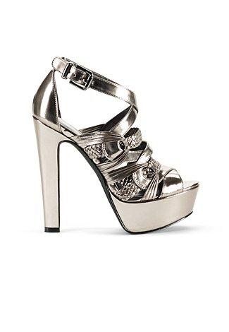 We'd wear these metallic heels, which look completely luxe — without the hefty price tag. Jessica Simpson Parissa ($98)