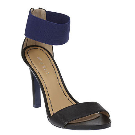These sporty, chic ankle-strap sandals would look amazing with sleek LBDs.  Nine West Lookglobal Sandals ($89)