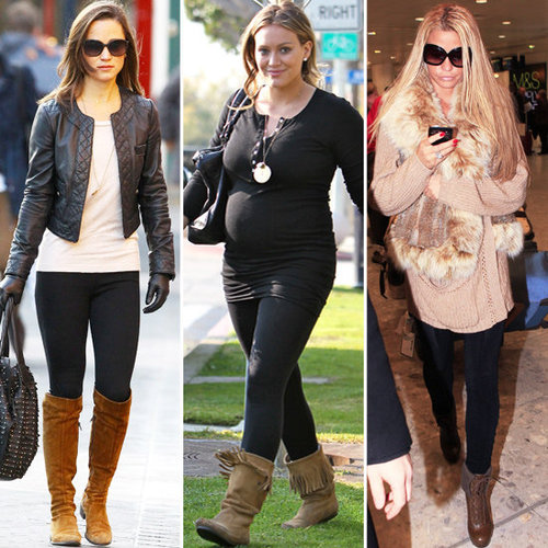 Trendspotting: Brown Boots With Black Leggings