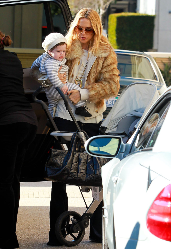 Rachel Zoe and Skyler Berman enjoyed the sunny day in LA.