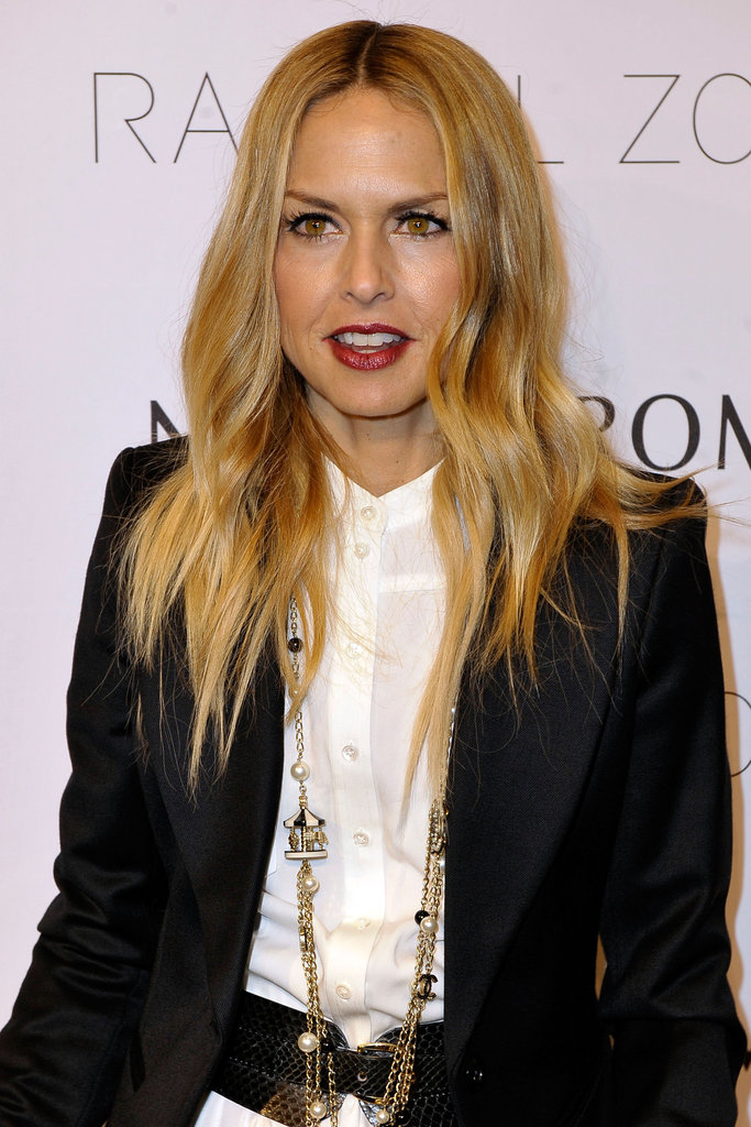 Rachel Zoe smiled on the red carpet at her Spring 2012 presentation in San Diego.