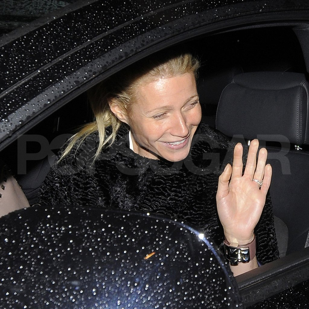 Gwyneth Paltrow waved bye to Philip Green.