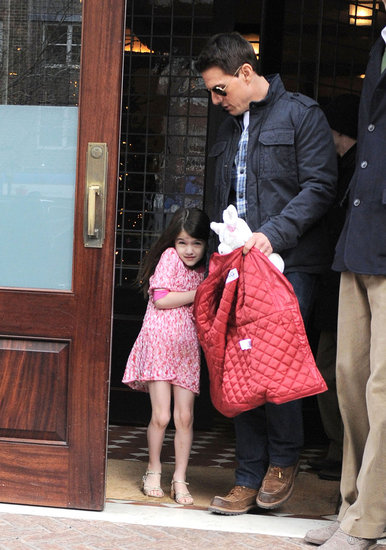 Tom and Suri Head Out Prior to Katie's Big Birthday Weekend