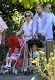 Britney and Jason showed Sean and Jayden around a Melbourne park in November 2009.
