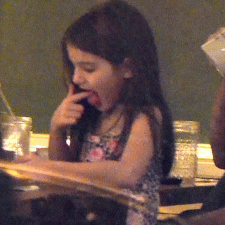 Katie Holmes and Suri Cruise Bubbys Dinner Pictures