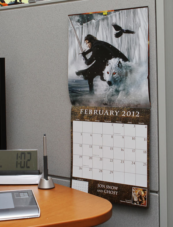 Song of Ice and Fire 2012 Calendar ($13)