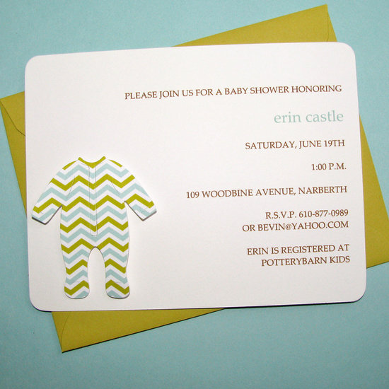 Handmade Sleeper Baby Shower Invitation ($28 For 8)