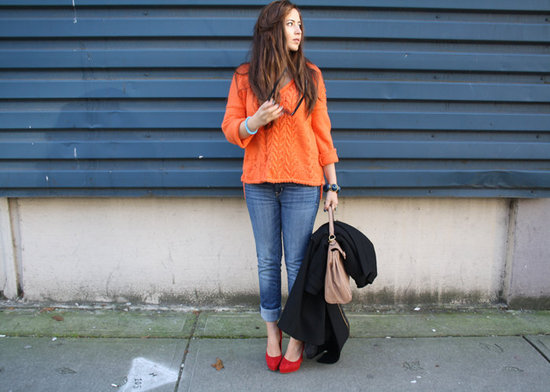 Orange Knit