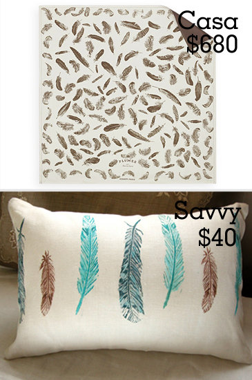 Feather Print Pillow Cases