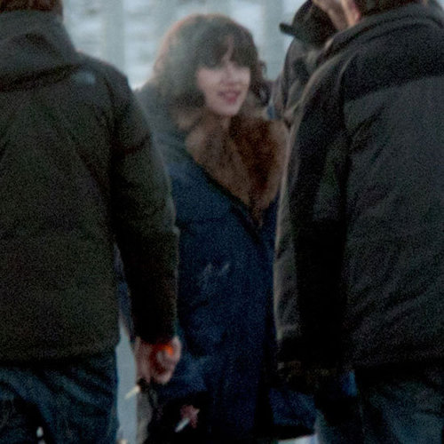 Scarlett Johansson on the Set of Under the Skin Pictures