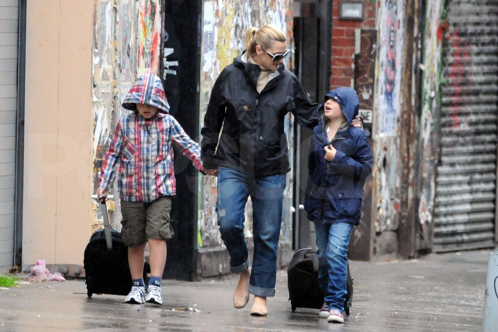 Kate Winslet, Mia, and Joe