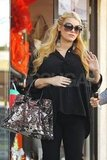 Jessica Simpson curled her hair for a day of running errands.