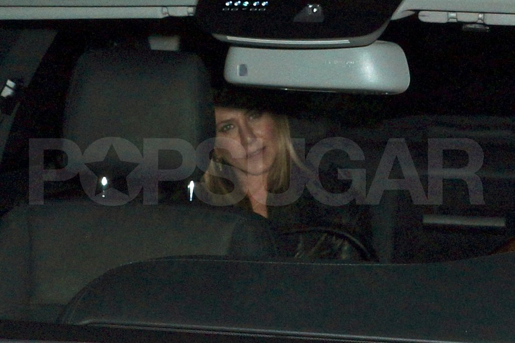Jennifer Aniston got a ride home after a date with boyfriend Justin Theroux.