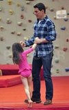 Tom Cruise played with daughter Suri Cruise.